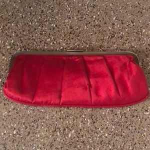 Handbags - Red Satin Clutch -Aldo-